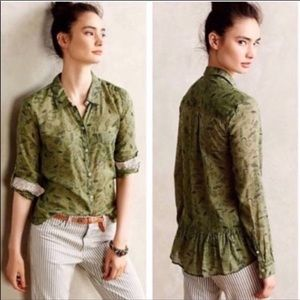 Anthro Holding Horses Arabel Button Down Size 6
